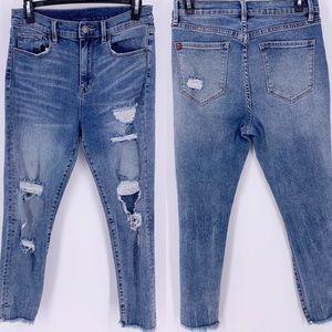 BDG Jeans - BDG Crop Twig High Waist Raw Hem Jeans Sz 28